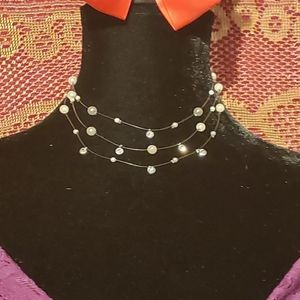 Vintage Invisible Choker Necklace